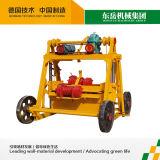 Машина делать кирпича блока Qt40-3b малая ручная передвижная
