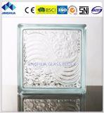 Jinghuaの蜜柑の皮明確な190X190X80mmのガラスレンガかブロック