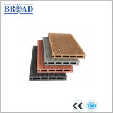 Plancher composé en plastique en bois WPC de Decking recyclable de 100% de Chine