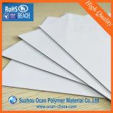3X6 발 UV 오프셋 인쇄를 위한 450 미크론 광택 있는 백색 PVC 엄밀한 장