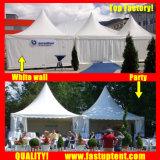 Белый алюминий ПВХ высокое пиковое беседка Палатка для 30 человек местный гость