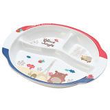 La mélamine Kid's Seires 3-divisé le déjeuner de la plaque (FB808)