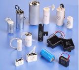 Бег мотора AC и конденсатор старта для полипропилена металлизированного кондиционером (Cbb60/450VAC) с проводом