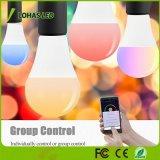 14W A21 E26 E27 B22 RGBW Smart WiFi bombilla de luz en casa trabajando con Amazon Alexa