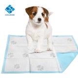足の印刷を用いる極度の吸収性のキルトにされたペット子犬のトレーニングのパッド