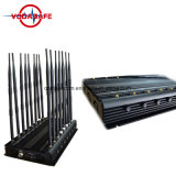 De Alta Potencia multifuncionales 16 teléfono móvil Bluetooth GPS antena VHF UHF Jammer portátil, teléfono móvil 3G de la señal UHF Jammer con ventiladores de refrigeración