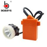 1W 5000luxの再充電可能な充電器Kl3lmが付いている(b) LEDによって束ねられる採鉱の帽子ランプ