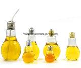 400 ml de suco, Bebidas garrafa da forma de lâmpada de vidro