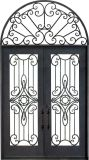 Arqueada completa Top Antique e luxo novo grelhador de ferro forjado Gate Designs de porta