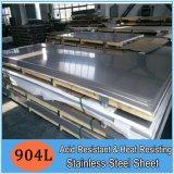 904L Blad van het Roestvrij staal van zuur-Resistant& het Hittebestendige voor Chemische Industrie in Voorraad