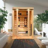 2 Personen-Größen-weites Infrarot-Sauna gebildet von hölzernem geeignetem für wie Familien-Wärmer-Gerät mit Cer, ETL, RoHS Bescheinigung