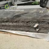 酸洗いの分割された端のブラウンの胆ばんの石灰岩の縁石の石のCurbstone