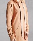 特大カスタムレディースラクダの100%年の綿の明白なプルオーバーのHoodieの服