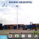 屋外ライト30m 2000W高いマストLEDライト、LEDの軽い駐車場