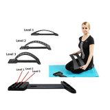 Magic camilla de respaldo de la columna vertebral lumbar alineación dispositivo masajeador