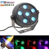 3 en 1 LED RGB 6pzas 1W Mini PAR plana puede Control de sonido de las luces de discoteca parte