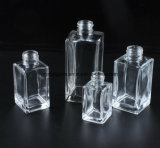 Quadratischer freier leerer Aroma-REEDdiffuser- (zerstäuber)kundenspezifische Glasflasche mit Metallschutzkappe