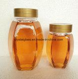 Recipiente de vidro transparente para o mel Embalagem, jarra de vidro de mel