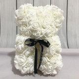 Un mini Rose Bear, bébé Rose Bear, fausse Roses ours en peluche blanc