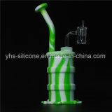China Wholesale nuevo tubo de silicona pulpo fumar DAB Rig con recipiente de vidrio o de cuarzo Banger