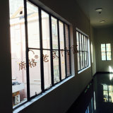 Vecchia finestra di alluminio d'acciaio di ultimo disegno
