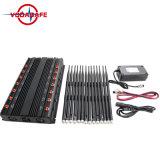 De Stoorzender van de hoge Macht voor 2g+3G+2.4gwifi +Remote Control+Gpsl1+Lojack; De regelbare Draadloze Stoorzender van 14 Antennes met de Lader van de Auto