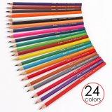 """Foska 7.0 """" 24의 색깔 자연적인 목제 6각형 색깔 연필"""