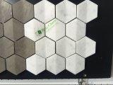 Azulejo de mosaico Polished del hexágono del mármol blanco de Carrara