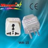 Всеобщий переходника WA-15 перемещения (гнездо, штепсельная вилка)