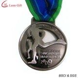 Medaglia antica su ordinazione poco costosa di maratona della fabbrica (LM1252)