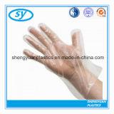 HDPE/LDPE Wegwerfplastik-PET gefalteter medizinischer Handschuh