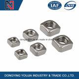 DIN DIN557562 écrous carrés en acier inoxydable avec plaqué zinc