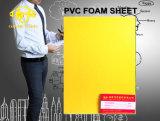 En PVC jaune mince feuille de mousse
