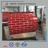煉瓦穀物パターンPPGIは最もよい品質の鋼鉄コイルをPrepainted