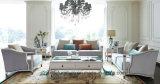 Exklusive moderne Eckkombinations-stellte Schnittgewebe-Leder-Sofa für Haupthotel-Wohnzimmer-Möbel ein