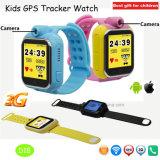 Perseguidor elegante del reloj del GPS de los cabritos de la manera con la pantalla táctil D18