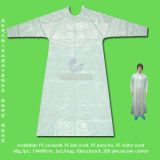 防水SurgicalかMedical/Hospital/Plastic/Polyethylene/Poly/PE/PP+PE/PP/SMS/Overall/Polypropylene Nonwoven Disposable Protective Gown、Disposable Coverall