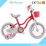 Crianças da bicicleta dos esportes dos miúdos que funcionam a bicicleta para o triciclo da cor-de-rosa da excursão