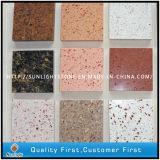 Azulejos artificiales de Backsplash de la cocina de la piedra del cuarzo de los colores rosados/blancos/grises/rojos