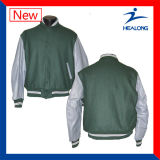 Цена Healong Китая дешевое одевает куртку бейсбола всех людей логоса для сбывания