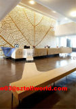 Изготовленный на заказ белая мебель Corian стола приема самомоднейшая встречная
