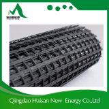 아스팔트 ISO9001를 가진 입히는 증강 50-50kn/M 섬유유리 Geogrid