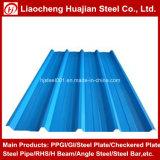 (0.16mm-1.2mm) Feuille en acier ondulée galvanisée de toiture enduite par couleur