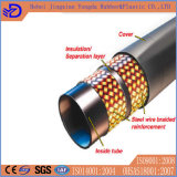 Boyau en caoutchouc hydraulique flexible à haute pression tressé 4sp de fil d'acier de qualité
