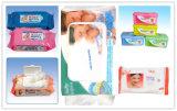 Toalhetes molhantes para bebês descartáveis, Pele de bebê com tecidos molhados (BW-047)