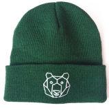 美しい刺繍されたたくわえの暖かい編む帽子(S-1079)