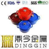 適正価格の鋳鉄のカセロールの皿