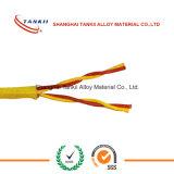 Câble de thermocouple isolé par fibre de verre jaune rouge de câble KPX KNX