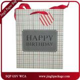 El regalo brillante de la laminación de las bolsas de papel del regalo de las compras de Brithday empaqueta bolsos de compras