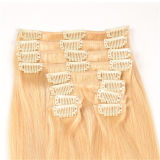 Extensions에 있는 가득 차있는 Head 20 Inch 10PCS Blonde Virgin Clip